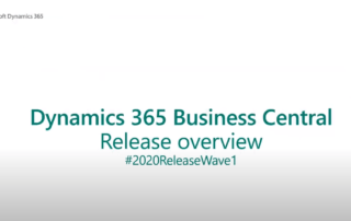 Dynamics 365 Business Central 2020 Wave 1