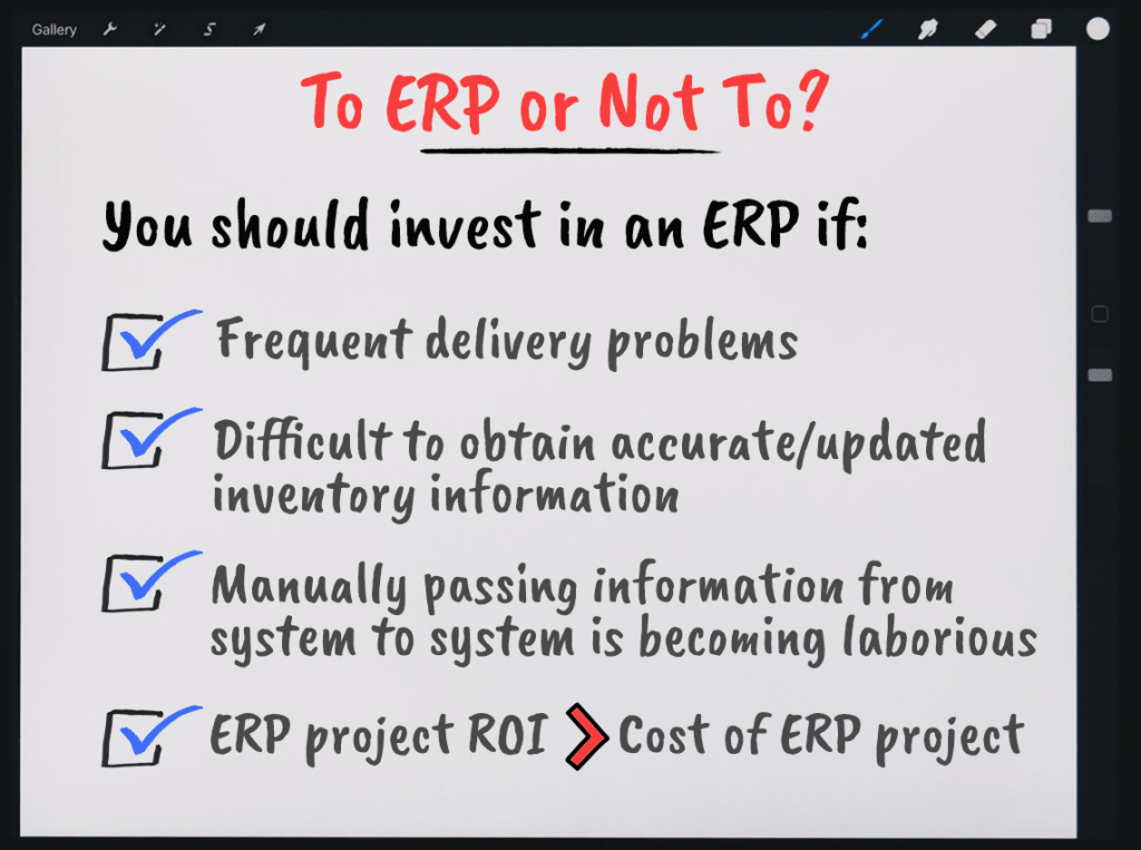 When do you need an ERP System?