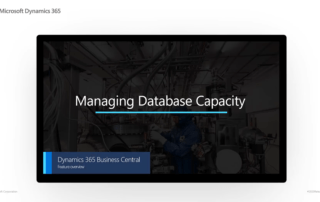 Managing Database Capacity
